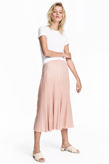 Calf-length skirt - Powder pink - Ladies | H&M CN 1