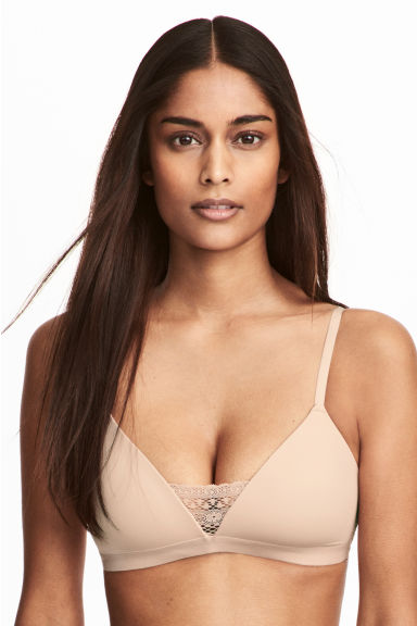 Padded triangle bra - Chai -  | H&M 1