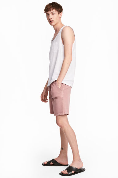 Sweatshirt shorts - Dusky pink - Men | H&M 1