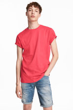 Round-necked T-shirt - Coral pink - Men | H&M CA 1