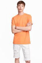 Round-necked T-shirt - Orange - Men | H&M 1