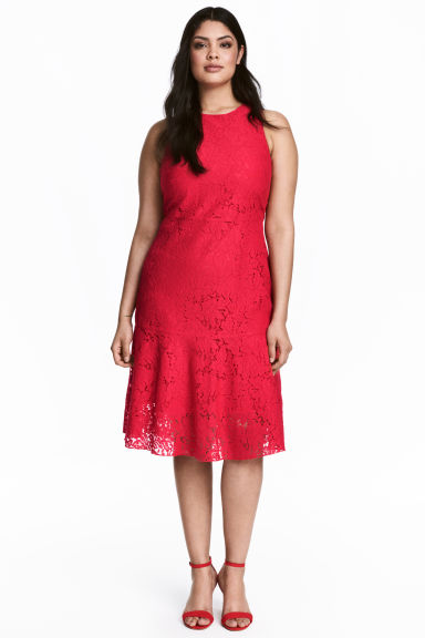 H&M+ Lace dress - Red -  | H&M CN