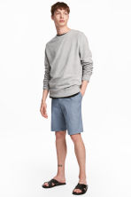 Knee-length cotton shorts - Pigeon blue - Men | H&M 1