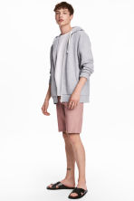 Knee-length cotton shorts - Dusky pink - Men | H&M 1