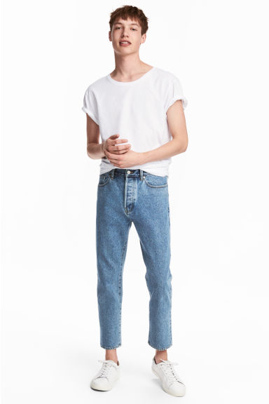 Cropped Tapered Jeans - Bleu denim - HOMME | H&M FR 1
