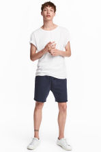 Knee-length sweatshirt shorts - Dark blue -  | H&M 2