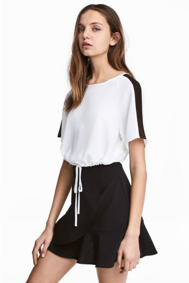 Cropped top - White - Ladies | H&M CN 1