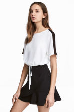 Cropped top - White - Ladies | H&M 1