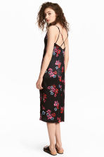 Slip dress - Black/Floral - Ladies | H&M CN 1