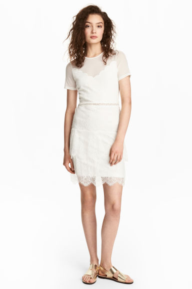 Lace dress - White - Ladies | H&M CN 1