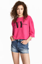 Cut-off sweatshirt - Cerise - Ladies | H&M CN 1