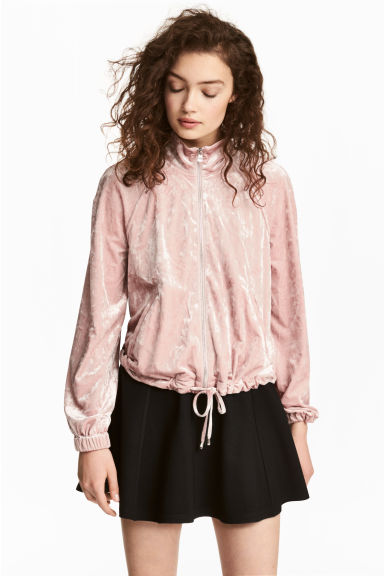 Crushed velvet jacket - Light pink - Ladies | H&M