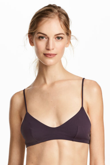 Triangle bikini top - Plum - Ladies | H&M 1