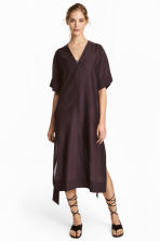 Silk-blend kaftan - Plum - Ladies | H&M 1