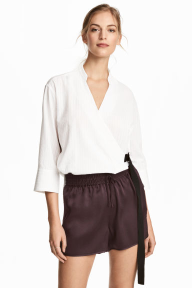 Silk shorts - Plum -  | H&M IE 1
