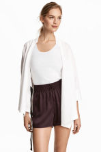 Pima cotton vest top - White - Ladies | H&M 1