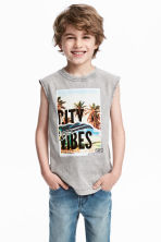 Printed vest top - Grey washed out - Kids | H&M 1