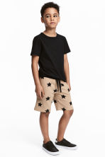 Sweatshirt shorts - Beige/Stars -  | H&M IE 1