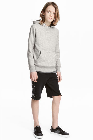 Sweatshirt shorts - Black/Stars - Kids | H&M 1