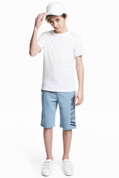 Sweatshirt shorts - Light blue marl - Kids | H&M CN