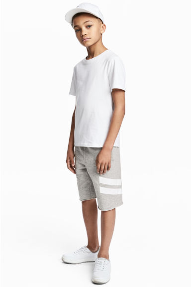 Sweatshirt shorts - Grey marl - Kids | H&M CN 1