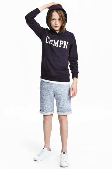 Sweatshirt shorts - Blue marl - Kids | H&M CN 1