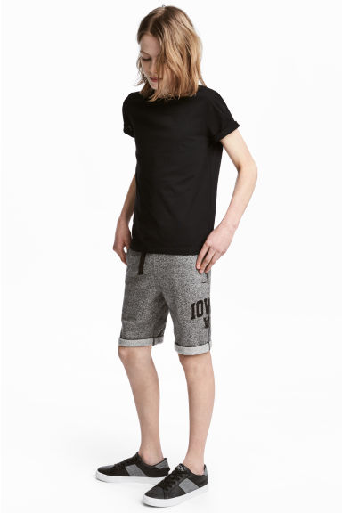 Sweatshirt shorts - Black marl - Kids | H&M