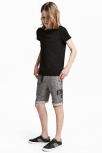 Sweatshirt shorts - Black marl - Kids | H&M CN 1
