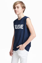 Printed vest top - Dark blue - Kids | H&M 1
