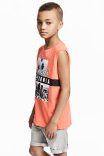 圖案背心上衣 - Orange/Los Angeles - Kids | H&M 1