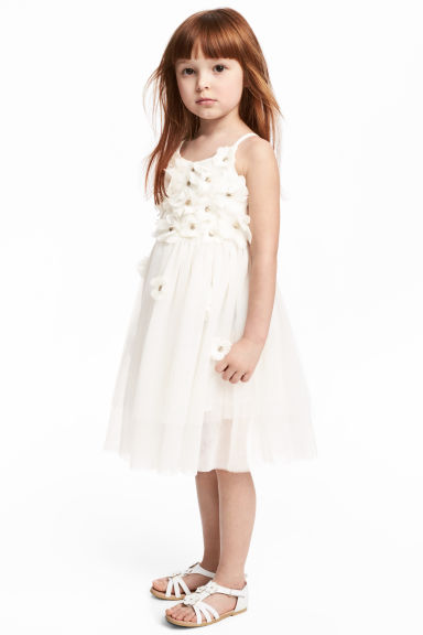 Tulle dress - Natural white - Kids | H&M 1