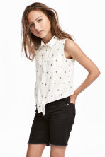 Tie-front blouse - White - Kids | H&M 1