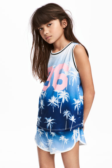 Basketball vest - Blue/Palms - Kids | H&M 1