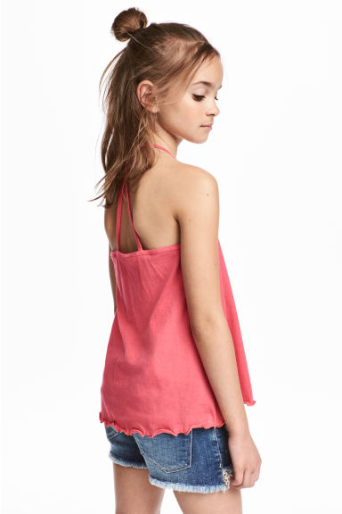 Jersey strappy top - Raspberry pink -  | H&M