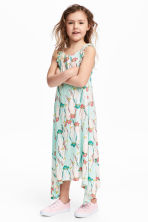 Printed jersey dress - Mint green/Parrot - Kids | H&M 1