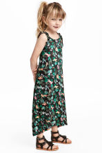 Printed jersey dress - Black - Kids | H&M IE 1