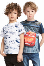 2-pack T-shirts - White/Cars - Kids | H&M 1