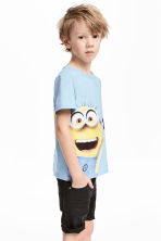 Printed T-shirt - Light blue/Minions - Kids | H&M CN 1