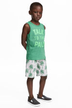 Vest top and shorts - Green -  | H&M 1
