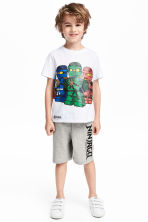 T-shirt and shorts - White/Lego - Kids | H&M 1