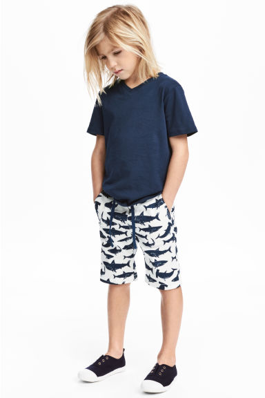 Cotton shorts - White/Sharks -  | H&M