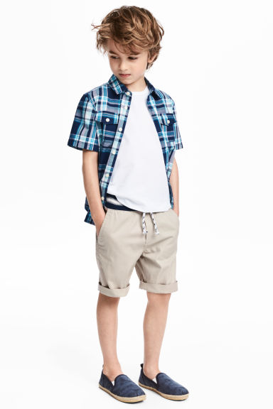 Pull-on shorts - Light mole - Kids | H&M