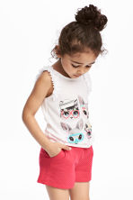 Sleeveless top - White/Animal - Kids | H&M 1