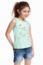 無袖上衣 - Mint green/Butterflies - Kids | H&M 1
