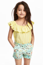 Frilled top - Yellow - Kids | H&M CN 1