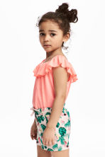 Frilled top - Coral pink - Kids | H&M 1