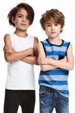 2-pack tops - Blue/Striped - Kids | H&M CN 1