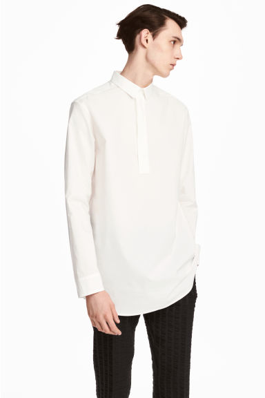 Wide cotton tunic - White - Men | H&M 1