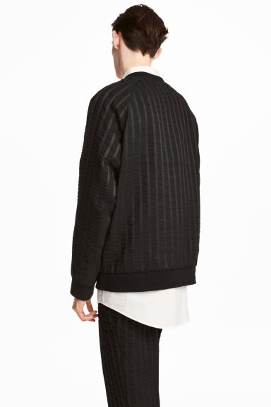 Striped sweatshirt - Black - Men | H&M CN 1