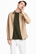Braided shirt jacket - Beige - Men | H&M 1